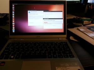 ubuntu on Acer V5